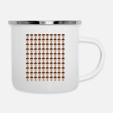 School Coffee Teacher 100 Coffee Cups 100th Day School - Enamel Mug