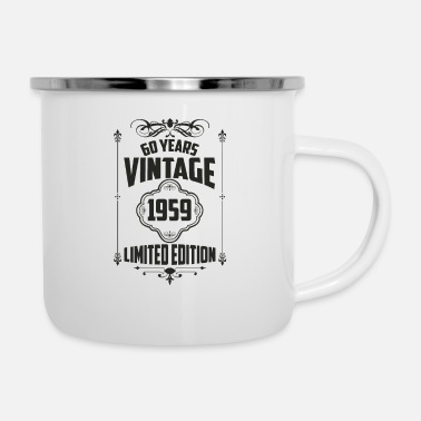Turn limited edition 60 birthday 1959 born retro gift - Enamel Mug