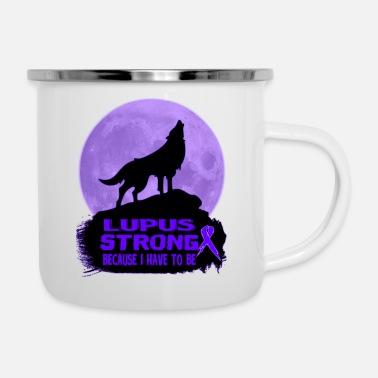Lupus Lupus Awareness T-shirt - Enamel Mug