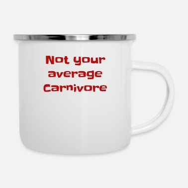 Bacon Not your average Carnivore RED Carnivore Diet - Enamel Mug