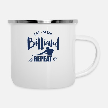 Billiard Table Billard Ball Billiard Table Billiard Billard Pool - Enamel Mug