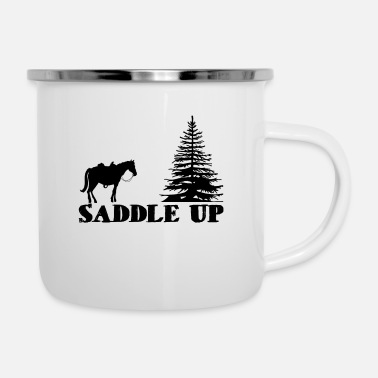 Saddle Saddle Up - Enamel Mug