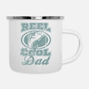 Fisherman Real Cool Dad Great Fishing Gift idea - Enamel Mug