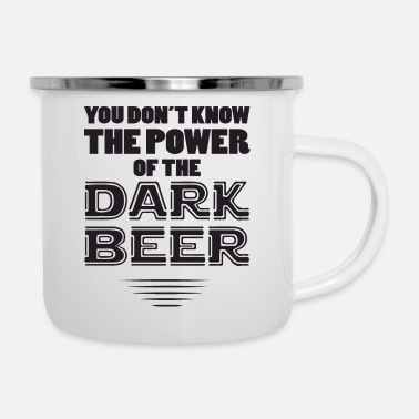Cheers the power of black - Enamel Mug