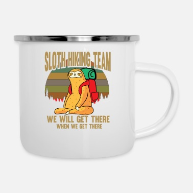 Bed Sloth team Slowly pet funny gift - Enamel Mug