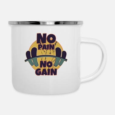 Year Of Birth No pain no gain - Enamel Mug
