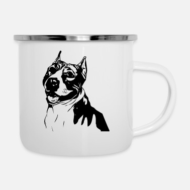 Icon Pitbull icon dog dogs pet puppy - Enamel Mug