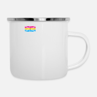Parade Pansexual UK Flag graphic LGBTQ Pride Gift Idea - Enamel Mug