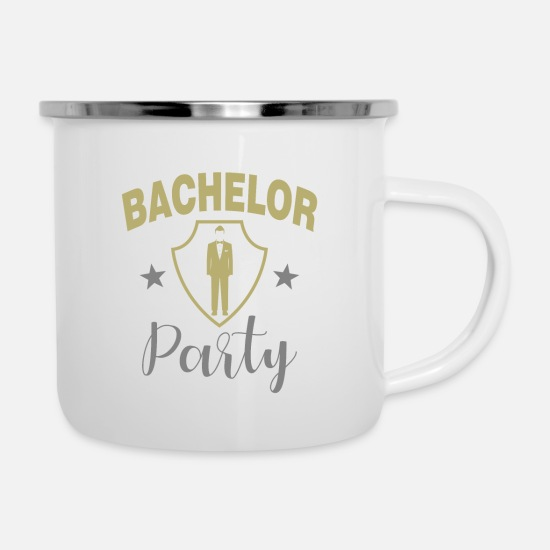 Bachelorette Party Mugs & Drinkware - Bachelor Party - Enamel Mug white
