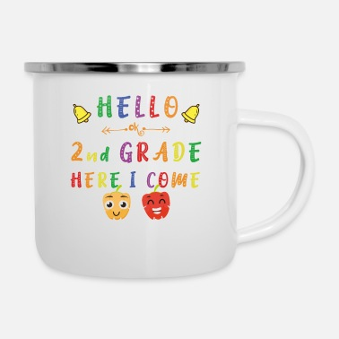 School Hello Second Grade Ok Here I Come Teachers & Kids - Enamel Mug