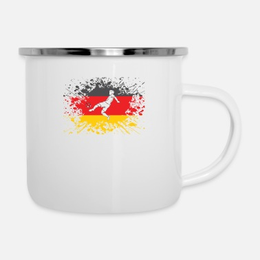 European Champion german flag soccer player european champion - Enamel Mug