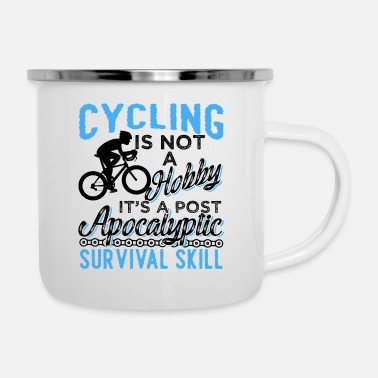 Awesome Cycling Awesome Cycling Survival Skill - Enamel Mug
