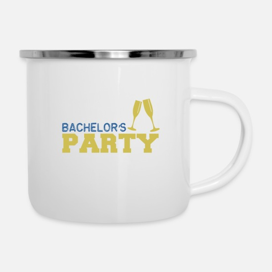 Bachelor Mugs & Drinkware - Bachelor farewell - Bachelors Party - Enamel Mug white