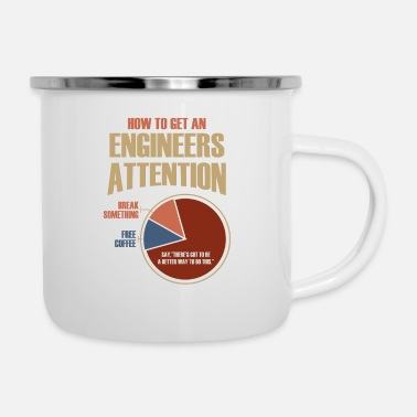Engineer Engineer Attention Shirt Time Spending Research - Enamel Mug