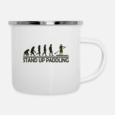 Up Stand Up Paddling Evolution SUP Paddle Surfing - Enamel Mug