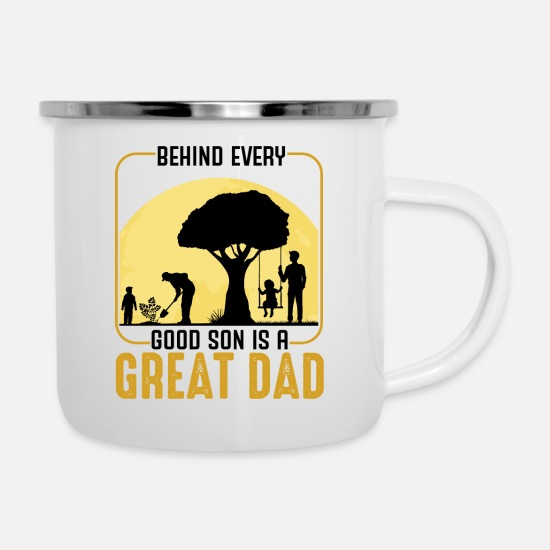 Father And Son Mugs & Drinkware - Father And Son - Enamel Mug white