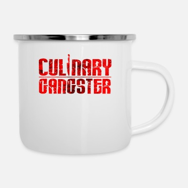 Cuisine Culinary Gangster | Cool Chef Typography Cooking - Enamel Mug
