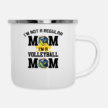 Scene Im Not A Regular Mom Im A Volleyball Mom for - Enamel Mug