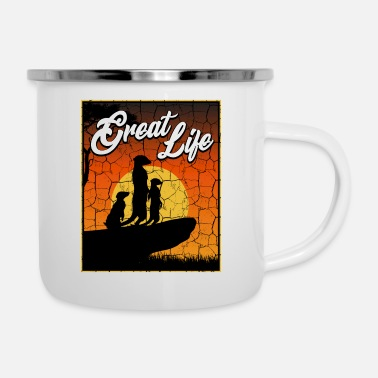 South Africa Great Life Cool Meerkats Suricate South Africa Sun - Enamel Mug