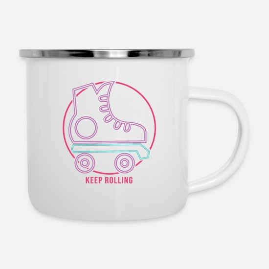 Birthday Mugs & Drinkware - Keep Rolling - Enamel Mug white