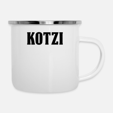 Companion Kotzi Saufi Malle Party Alcohol Beer Partnerlook - Enamel Mug