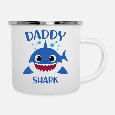 Character Daddy Shark (Baby Shark Song) - Father's Day Gifts - Enamel Mug