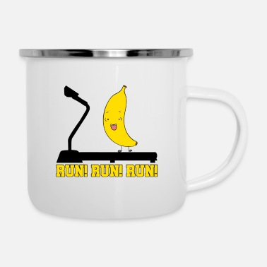 Running Run! Run! Run! - Enamel Mug