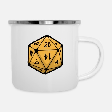 Casino Board Cards Gift Dice Gambling Games Play - Enamel Mug