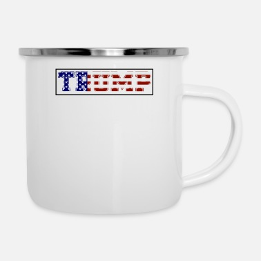 Election Campaign Thin blue line police American flag president - Enamel Mug