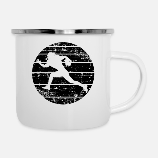 Gift Idea Mugs & Drinkware - American Football - Enamel Mug white