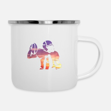 Mom Behind Every Football Player Family Mom Mother G - Enamel Mug