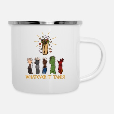 Shawarma Shawarma Arab Food Middle Eastern Arabic Sandwich - Enamel Mug
