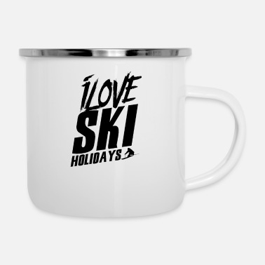 Skiing Holiday Ski Holiday - Enamel Mug