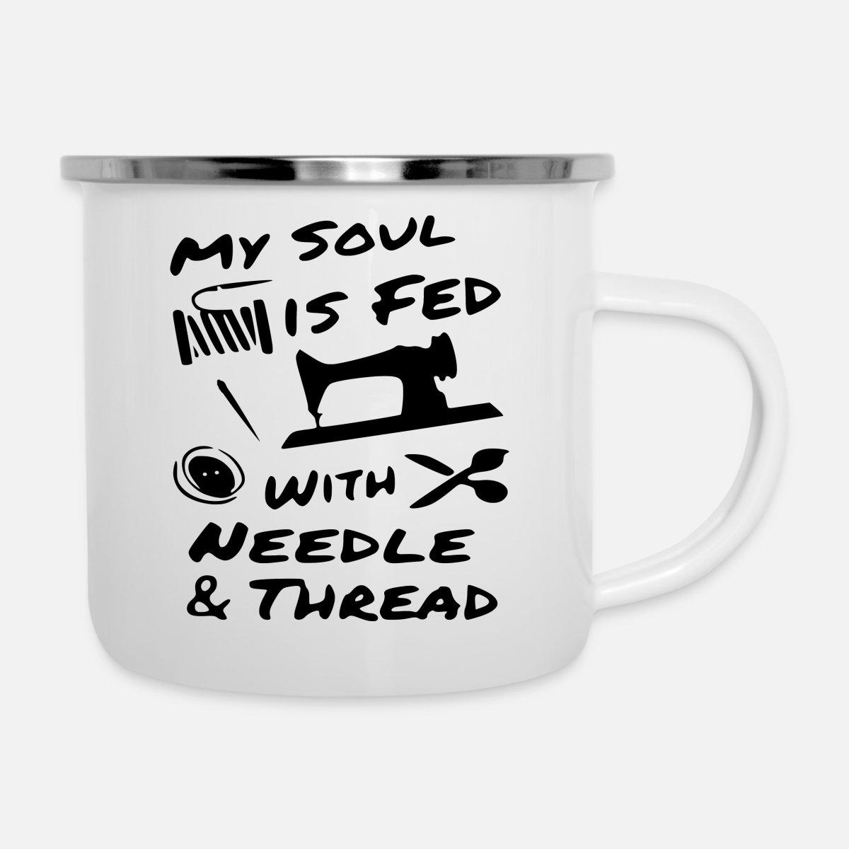 Thread Cutter Gift Enamel Mug
