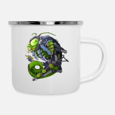 Scifi Scifi Mantis Monster - Enamel Mug