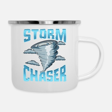 Severe Weather Cute Storm Chaser Severe Weather Tornado Obsessed - Enamel Mug