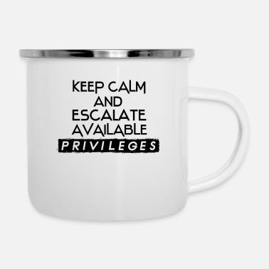 Admin Network Admin IT Security Admin - Enamel Mug