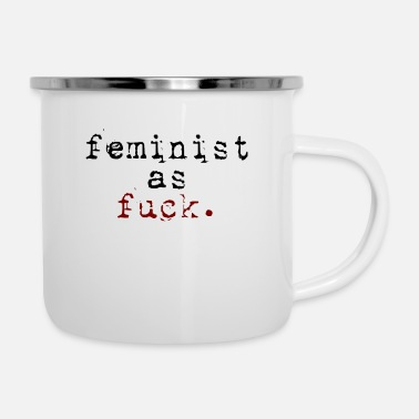 Mom Feminist As Fuck - Enamel Mug