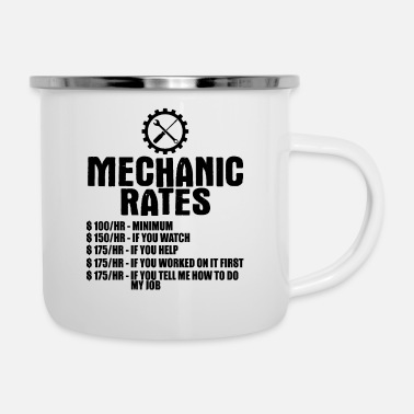 Minimum Mechanic Rates $100/hr -Minimum $100/hr -Minimum $ - Enamel Mug
