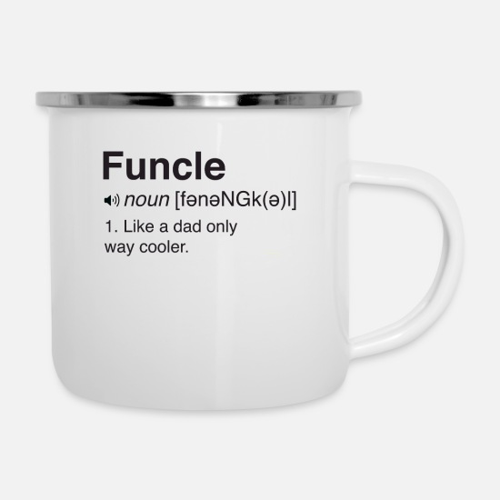 Humor Mugs & Drinkware - Funcle Definition - Enamel Mug white