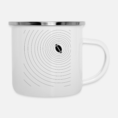 American Football Sports circles waves - Enamel Mug