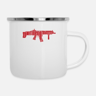 Mi Detroit Michigan USA Gun Control Guns Long Firearm - Enamel Mug