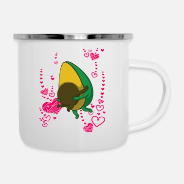 Avocado heart love Bio - Enamel Mug