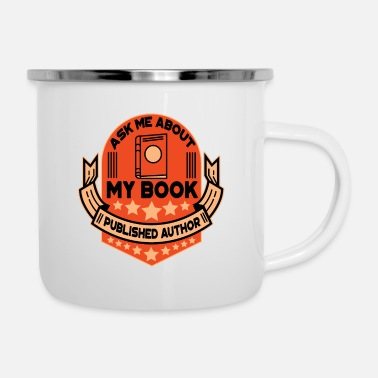 Book book author book books gift - Enamel Mug