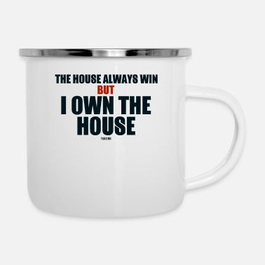 Poker Poker home win funny saying - Enamel Mug