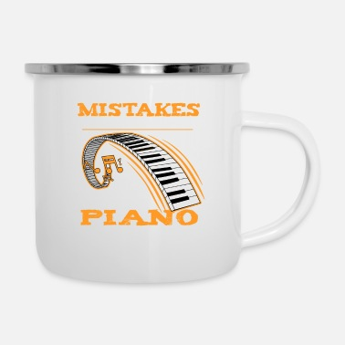 Jazz I Dont Make Mistakes Piano Player Keyboard Music - Enamel Mug