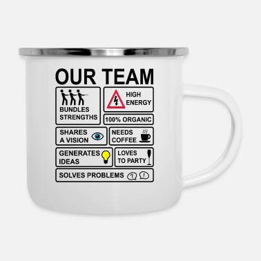 Staff Teamwork - Enamel Mug