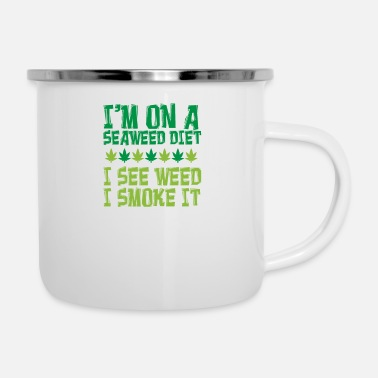 Oil Weed Hemp Lover Cannabis Smoker Gift - Enamel Mug