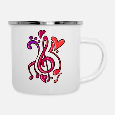 Bassist Guitar Music Note Musician - Enamel Mug