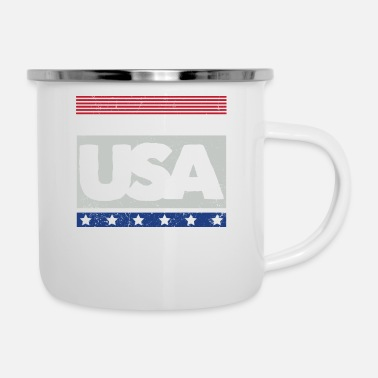 Usa USA - Made in USA - Enamel Mug